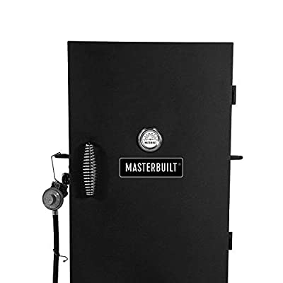Masterbuilt 30-Inch Outdoor Vertical Propane Gas BBQ Meat Smoker Grill, Black (2 Pack)