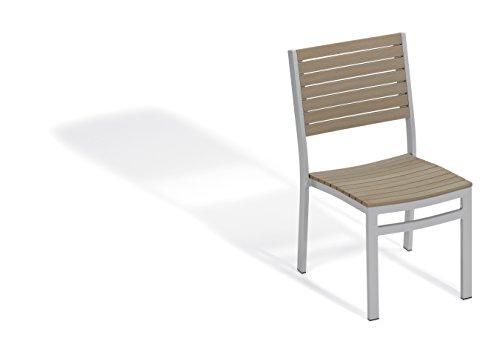 Oxford Garden - Travira Collection Side Chair - Powder Coated Aluminum Frame - Vintage Tekwood Seat - Set of ()