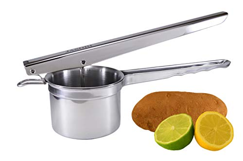 Jasori Potato Ricer and Manual Juicer Heavy Duty 304 Stainless Steel, Makes Fluffy Mashed Potatoes, Juices Citrus and Pomegranates (Best Fluffy Mashed Potatoes)