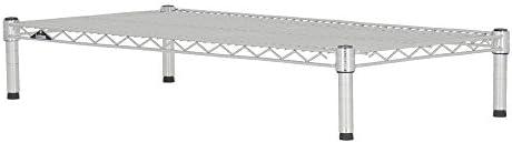ドウシシャ メタルラック本体 クロームメッキ 幅91.5×奥行46×高さ105.1cm 3段 +突っ張り2本 SR90450000015NNNZ-1