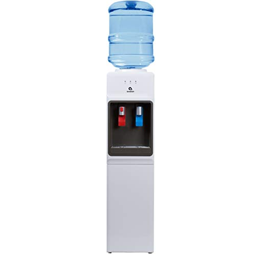 Avalon A1WATERCOOLER A1 Top Loading Cooler Dispenser, Hot & Cold Water, Child Safety Lock, Innovative Slim Design, Holds 3 or 5 Gallon Bottles-UL/Energy Star Approved, White (Cold Hot Water Dispenser Gallon 5)