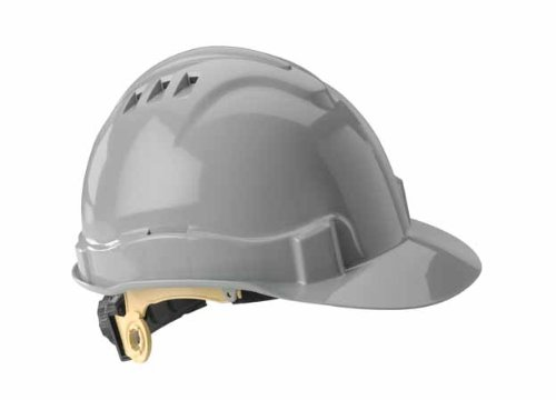Gateway Safety 71208 Serpent High Density Polyethylene Vented Safety Helmet with Ratchet Suspension, Type I/Class C, Gray by Gateway Safety (Image #1)