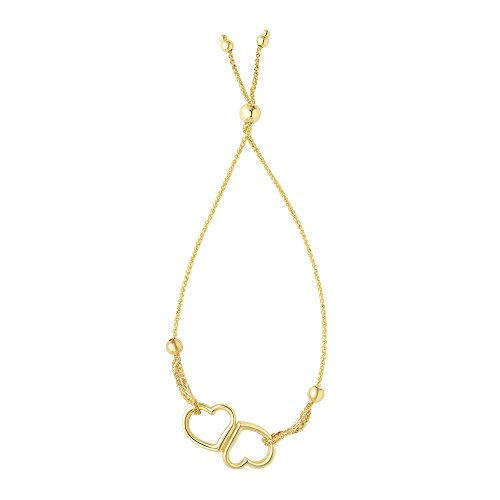 23,5cm 14carats Or jaune 1mm Coupe diamant rond blé Bracelet