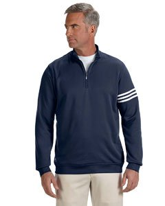 adidas Mens Climalite 3-Stripes Pullover (A190) -Navy/White -L