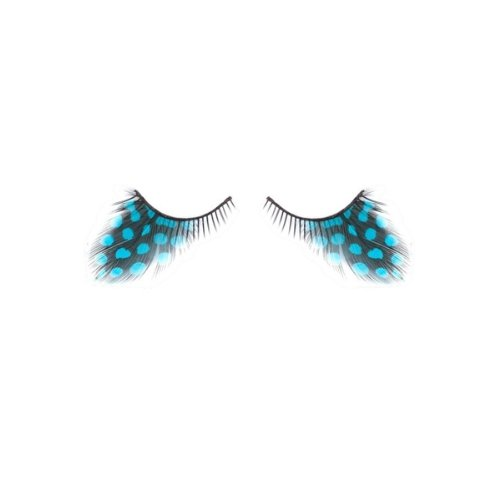 [Drama Queen Fashion Lashes Costume Eyelashes, Turquoise Polka Dots] (Costumes For Drama)
