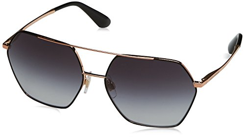 Dolce & Gabbana Women's Metal Woman Square Sunglasses, Matte Black, 59.4 - Flowers With Sunglasses Gabbana Dolce