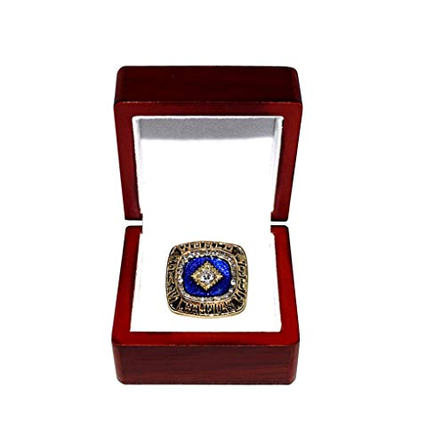 KANSAS CITY ROYALS (George Brett) 1985 WORLD SERIES CHAMPIONS (First World Series Title) Vintage Rare & Collectible High-Quality Replica Baseball Gold Championship Ring with Cherrywood Display Box