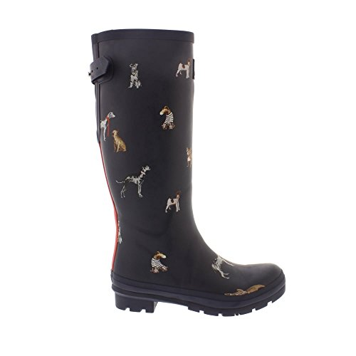 French Joules Boot Rain Chic Dog Ajusta Women's Navy qIwtxH8Ir