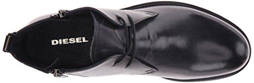 DIESEL - Boots - Homme - Chukka cuir noir used zip coté D-Deshort pour homme