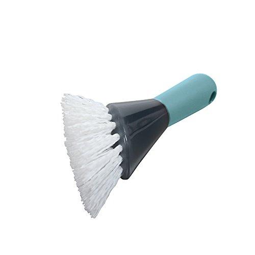 - Casabella Smart Scrub Heavy Duty Drain Brush, Aqua and Grey