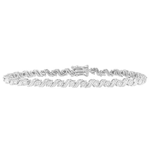 Original Classics Sterling Silver 1/4ct TDW Rose-Cut Diamond Tennis Bracelet(I-J, I3-Promo) ()