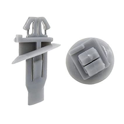 eDealMax Empuje 100 piezas Gris 10.5mm plástico del agujero en sujetadores Remaches Clips Para coches
