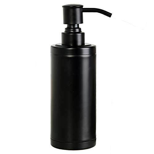 Ntipox Matte Black Soap Dispenser with Stainless Steel Pump Hand Soap Lotion Dispensers for Bathroom and Kitchen (10 oz…