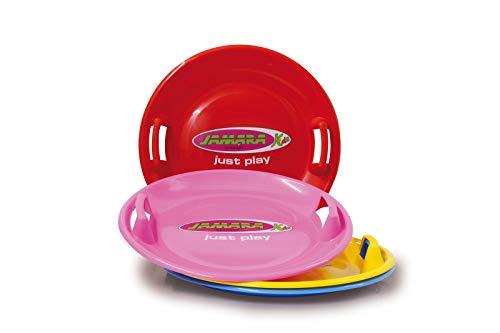 Colore Rosso 460368 Jamara-460368 Snow Play Slittino Rotondo 60 Cm