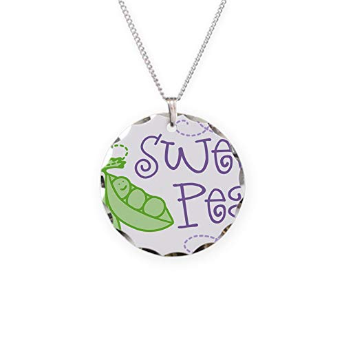 CafePress Sweet Pea Charm Necklace with Round Pendant