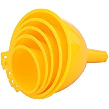 VIVSHOPPE Plastic Food Grade Funnel Set of 5 | For Kitchen & General Use | No Spilling & Easy Transfer of Water, Oil, Wine, Drinks, Other Liquids or Dry Ingredients | Comes in 5 Convenient Sizes