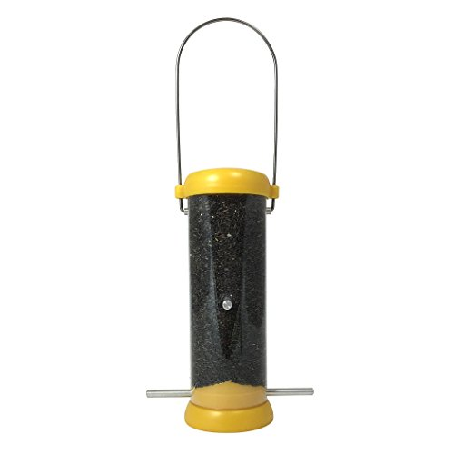 Duncraft Accent - Droll Yankees BL8YF Bird Lovers 8-Inch Finch Feeder with Yellow Accents