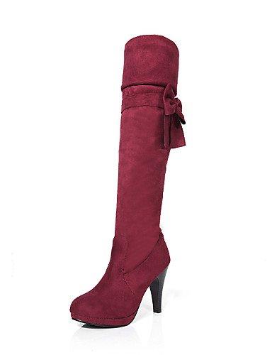 Vestido Cn38 Cono La Rojo Mujer Eu38 us4 Brown Zapatos De A Botas Eu34 Negro Punta 5 Marrón 5 4 Moda Semicuero C Redonda 5 Uk2 us7 Xzz Casual 5 Cn33 2 Uk5 Brown Tacón xqPInzawxg