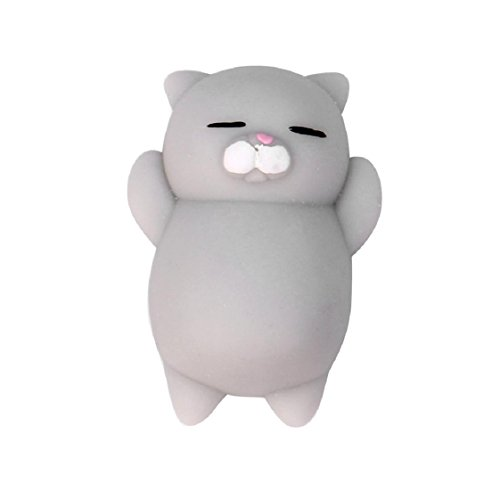 Cute Mochi Squishy Cat Squeeze Healing Fun Kids Kawaii Toy Stress Reliever Decor Mchoice (A)