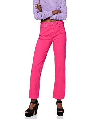 Pepe Jeans Women's Elektra Trouser, Pink (357fuchsia 357), One (Size: 33)