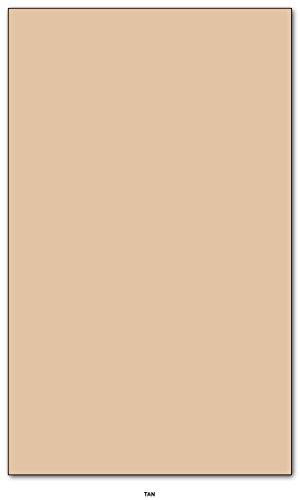 Tan - Colored Card / Cover Stock 67lb. Size 8.5 X 14 Legal / Menu Size 50 Per Pack