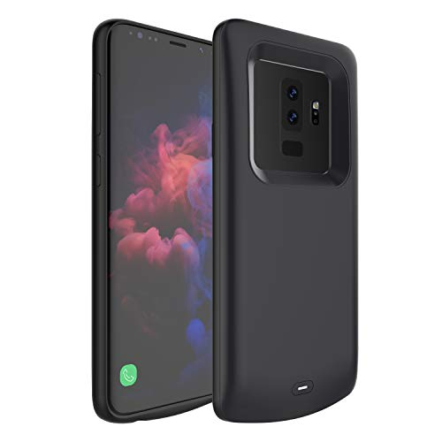 Galaxy S9 Plus Battery Case,External 5200mAh Portable Backup Charger Pack with Soft TPU and Full Edge Protection Type C Extended Power Bank Charging Case for Samsung Galaxy S9 Plus(Not for S9) (Black)