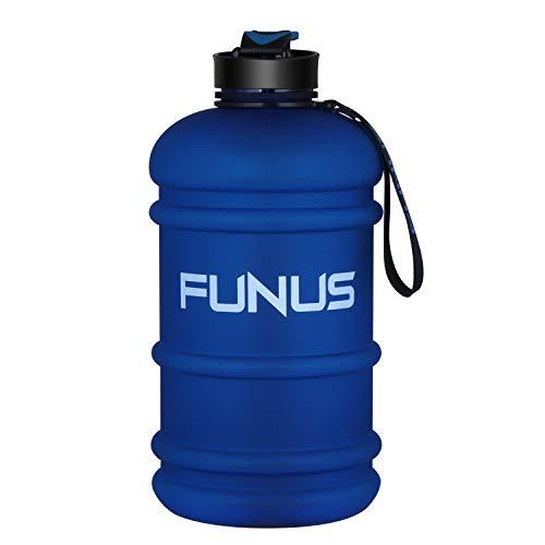 Big Water Bottle 1.3L-2.2L Large Water Bottle BPA Free Leak Proof Reusable Odorless Big Capacity Water Jug for Men Women Fitness Gym Outdoor Climbing Gym Water Bottle (2.2L Frosted Nebulas Blue)
