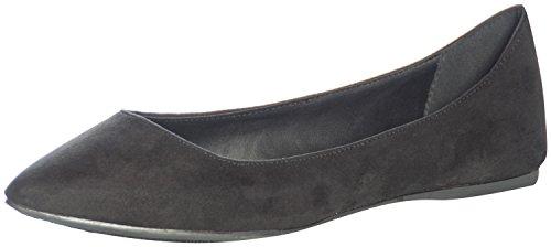 Breckelles Women's TALIA-01 Faux Suede Pointed Toe Ballet Flats Black 8.5