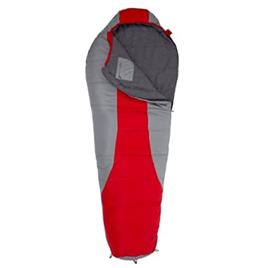 TETON Sports Tracker  5F Ultralight Sleeping Bag, Perfect for Backpacking, Hiking, and Camping, Red/Grey