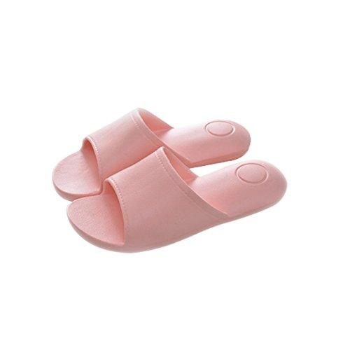 TELLW women Summer couple Japanese bath shower cool slippers Eva soft bottom indoor home non-slip slippers Pink karbsjJ5r4