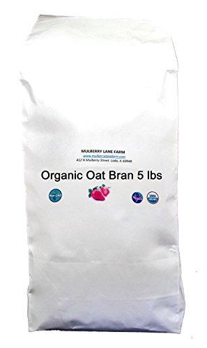 Oat Bran, 80 Ounces or 5 lbs (Five Pounds) USDA Certified Organic, Non-GMO - Bran Bulk Oat
