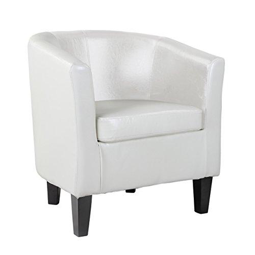 CorLiving LAD-719-C Antonio Tub Chair, White ()