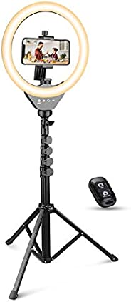 UBeesize 10'' Ring Light with Tripod, Selfie Ring Light with 62'' Tripod Stand, Light Ring for Video Recording