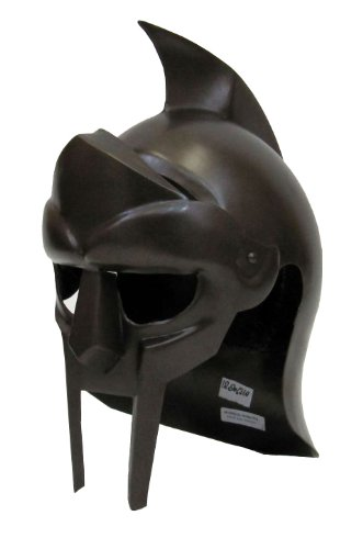 [Gladiator Arena Helmet in Steel Antique Finish - Wearable] (Authentic Stormtrooper Costume For Sale)