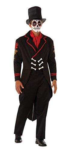 [Adult Men's Day Of The Dead Senor Muerta Mexican Groom Costume] (Dead Groom Costume)