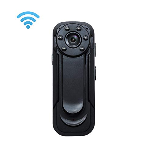 Lenofocus Small Body Camera 1080P Wireless Wifi Hidden Spy Camera Nanny Cam Portable Pocket Clip Camera with Night Vision Motion Detection, Sport DV Car Dash Camera, Hidden Security Camera for Home (Multi Purpose Electronic Time Recorder)