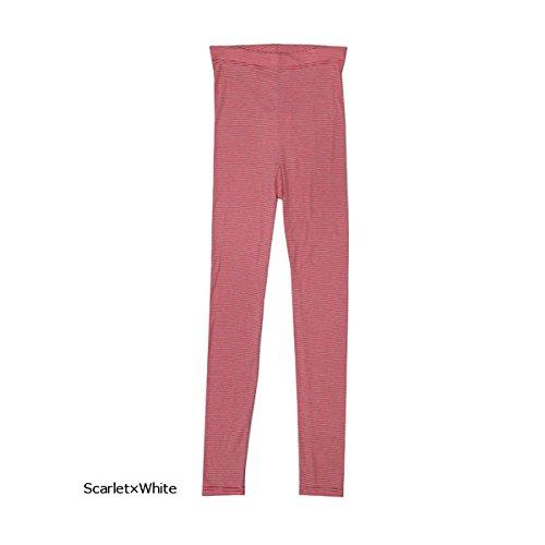 雑種匿名謝罪する(サンテテ)Saintete レディース ボーダー レギンス パンツ 日本製 MADE IN JAPAN Leggings fb103