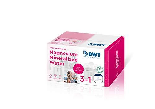 BWT Magnesium Minerazer Filtros De Jarra, Blanco, 3+1, 4