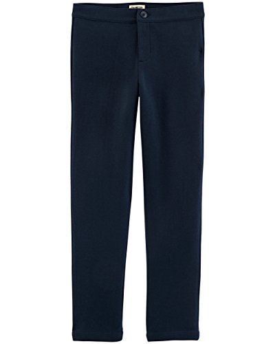 Oshkosh Capris - Osh Kosh Girls' Kids Uniform Ponte Pant, Navy, 8