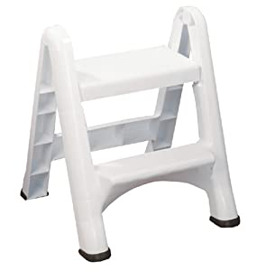 Amazon Com Rubbermaid Fg420903wht Folding 2 Step Step