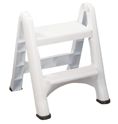 Amazon.com Rubbermaid FG420903WHT Folding 2-Step Step Stool Kitchen \u0026 Dining  sc 1 st  Amazon.com : 2 step folding plastic step stool - islam-shia.org