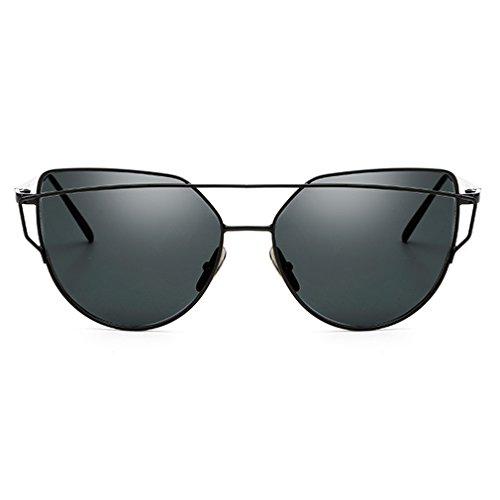 Armear Double Bridge Cat Eye Sunglasses Mirrored Flat Lenses Super Cool Eyewear - Teens Sunglasses Cool For
