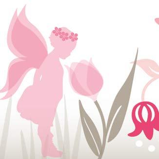 """Anna Wand Design Frise Murale Auto-adh/ésive 450 x 11,5 cm pour Chambre d/'Enfants Motif avec f/ées /""""Lovely Fairies/"""" Rose//Vert"""