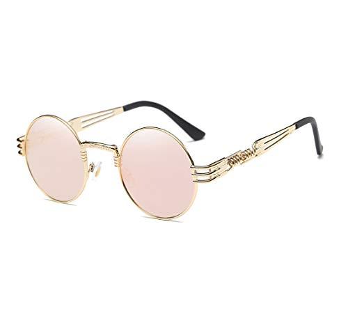 GAMT John Lennon Glasses Quavo Steampunk Round Sunglasses Circle Metal Frame Eyewear for Men and Women ()