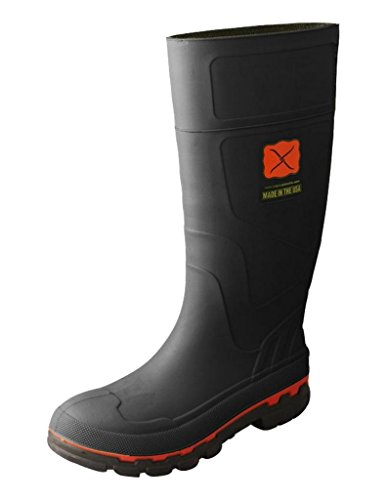 Twisted X Men's Rubber Boot Steel Toe Black 11 D US