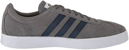 Adidas Mens Vl Court 2.0, Grigio Tre / Grigio Due / Gum, 10,5 M Us (grigio Quattro F17, Blu Marino Collegiale, Ftwr Bianco)