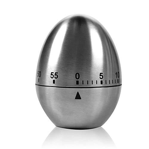 """Zeitmesser Küche TURATA Kurzzeitmesser """"Ei"""" Küchentimer Eiförmige lustige Eieruhr Edelstahl rostfrei Kurzzeitwecker küche mit Stoppuhr Handwäsche"""