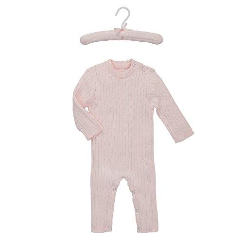 Elegant Baby Cable - Elegant Baby Unisex Cable Knit Jumpsuit, ELE90873, 3/6 months, Pink