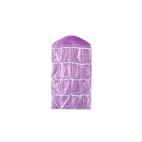 BrandName 16 Grid Faltbare Garderobe Wandtür Zurück Hängende Tasche Unterwäsche Unterwäsche Socken Krawatte Hängende Schuhe Aufbewahrungsbox Debris Bag 1St. Lila