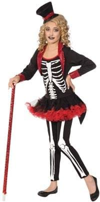 Forum Novelties Girl Ghoul Miss Bone Jangles Child Costume, -